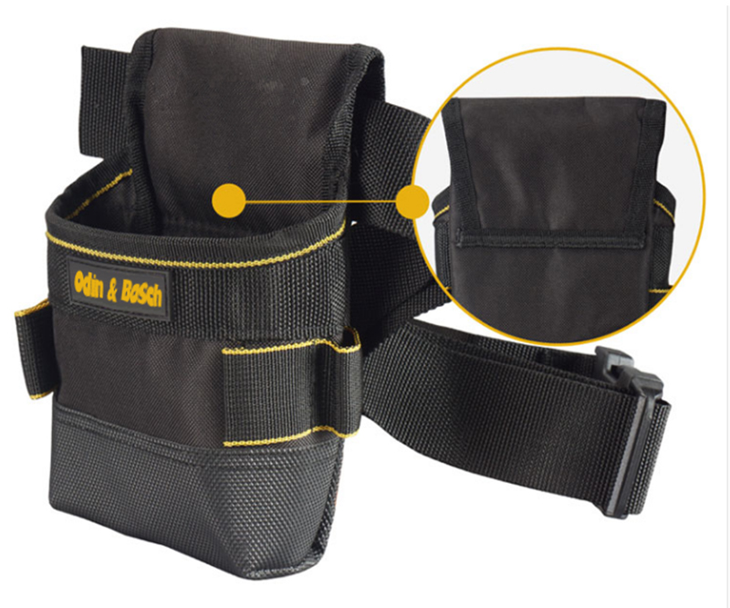 Electrician construction tool pouch belt waist bag