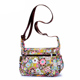 Customized Flower Cartoon Sling Crossbody Bag Printed Pattern Polyester Woman's Messenger Bag
