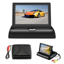 Alta qualidade carro 5/tela LCD de 4.3 polegadas HD display de dobramento destaque two-way entrada AV Monitor de reverter