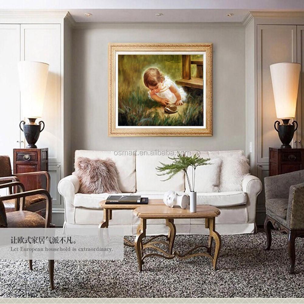 Handgeschilderde Mooie Baby Olieverfschilderij Hoge Kwaliteit ...