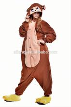 Wholesale monkey animal costume sexy adult onesie jumpsuit pajamas