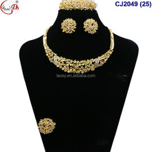 2017 Chowleedee in many style 4-piece jewely gold plated african Jewelry Set CJ2049