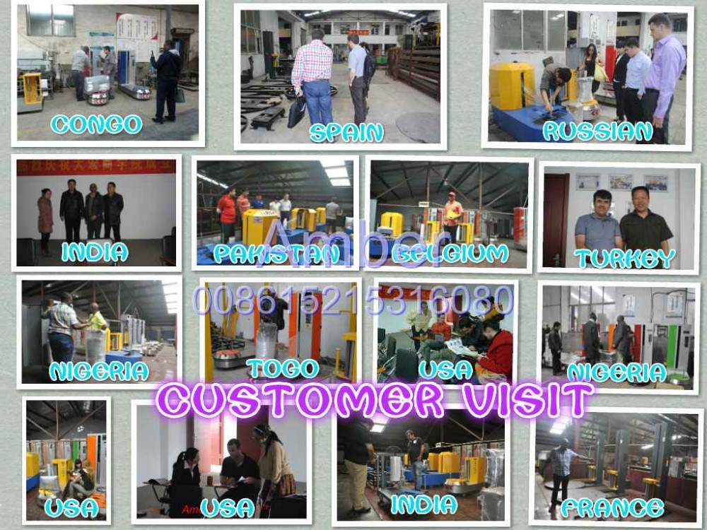 China popular with National patent Automatic Airport Luggage Wrapping Machine 008615215316080