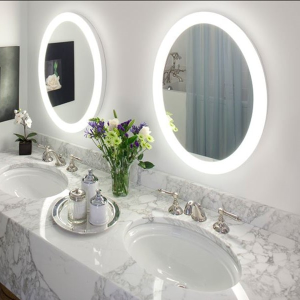 IP44 rated illuminated hotel bathroom mirror