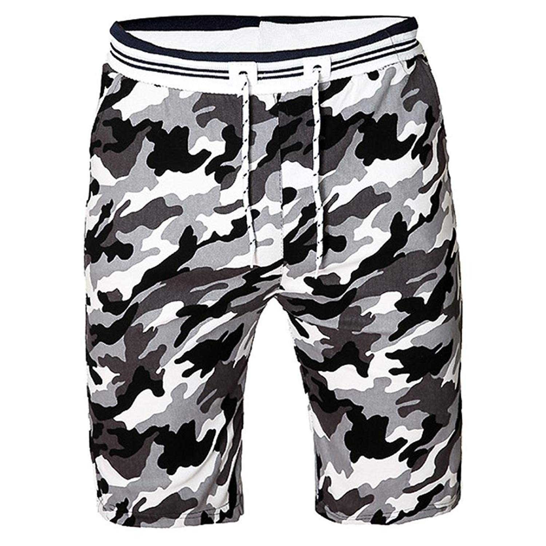 Mikkar Mens Camouflag Shorts Swim Trunks Quick Dry Sport Beach Surfing Water Pants