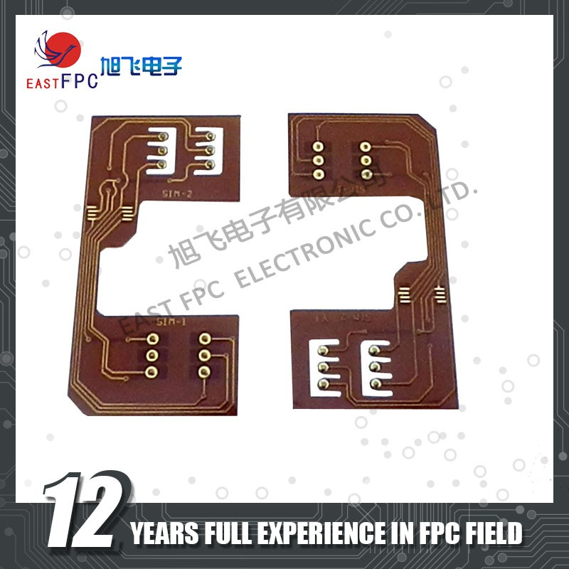Nickel Gold Plated Touch Panel FPC,High Density Sim Card FPC