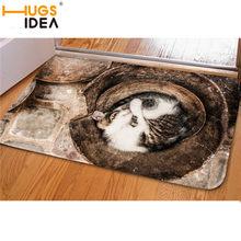 HUGSIDEA 3D кавайный принт с котом, добро пожаловать, коврики для спальни, прихожая, ковер, противоскользящий мягкий коврик для гостиной, кухни, ...(Китай)