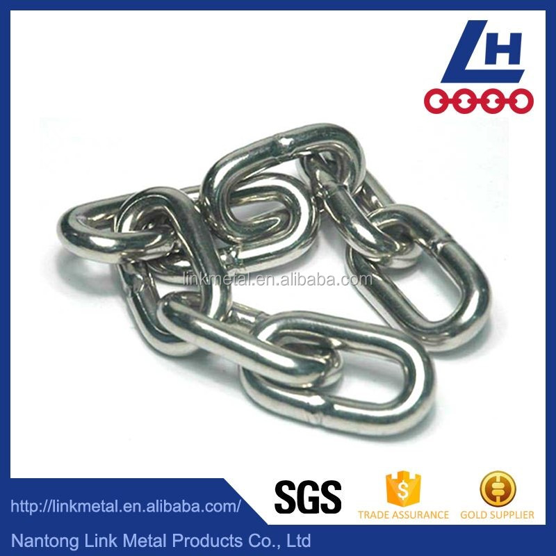 Nacm90 316 stainless steel hanging metal link chain