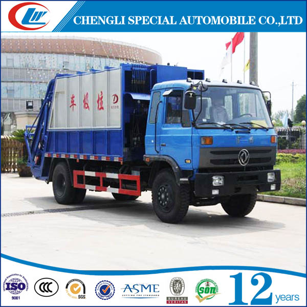 China made Dongfeng 4*2 compressed garbage trucks waste compactors