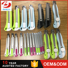 ABS handle snap blade 18mm Auto lock top quality cutter knife manufacturer in Guangzhou