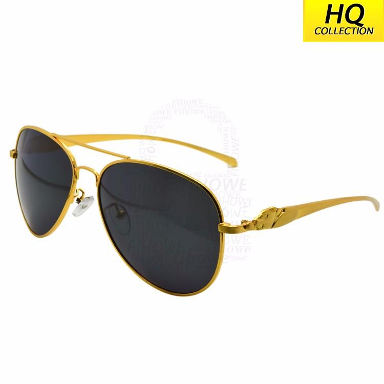 Lujo Golden Jaguar joyería negro lente gran marco de la vendimia ...