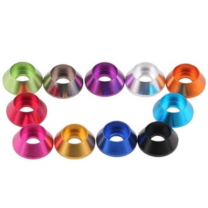 M2 M3 M4 M5 M6 M8 Colorful Anodized Aluminum Dome Countersunk Fender Washer