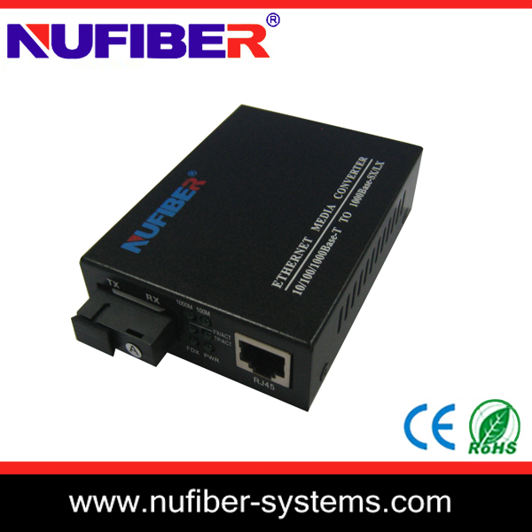 High quality MM fiber media converter SC to RJ45 port ethernet optic meida converter with 3 years warranty