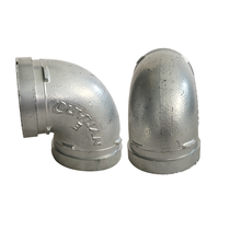 DN25-DN300 ductile iron grooved pipe fittings elbow