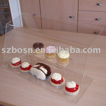 Acrylic Food Display,Plexiglass Bakery Stand,Lucite Candy Holder
