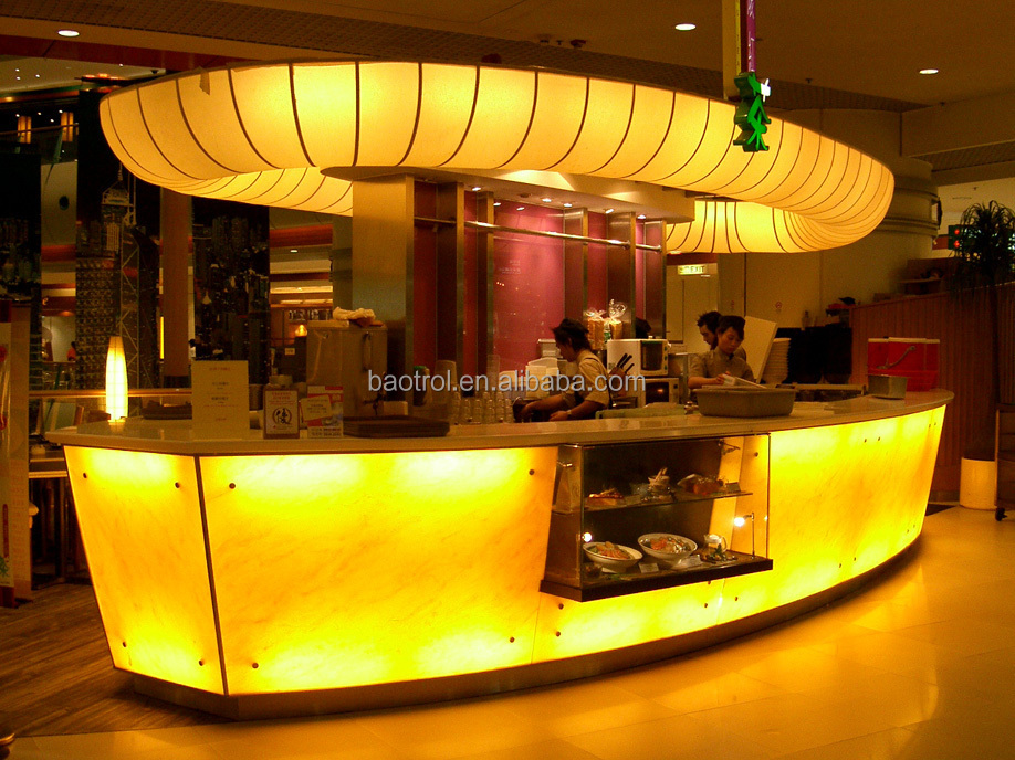 Special Design Artificial Acrylic Stone Boat Wine Bar Counter Modern  Furniture
