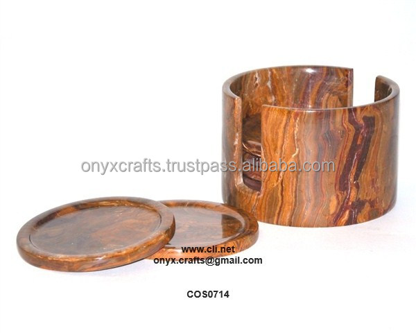 RED ONYX COASTER