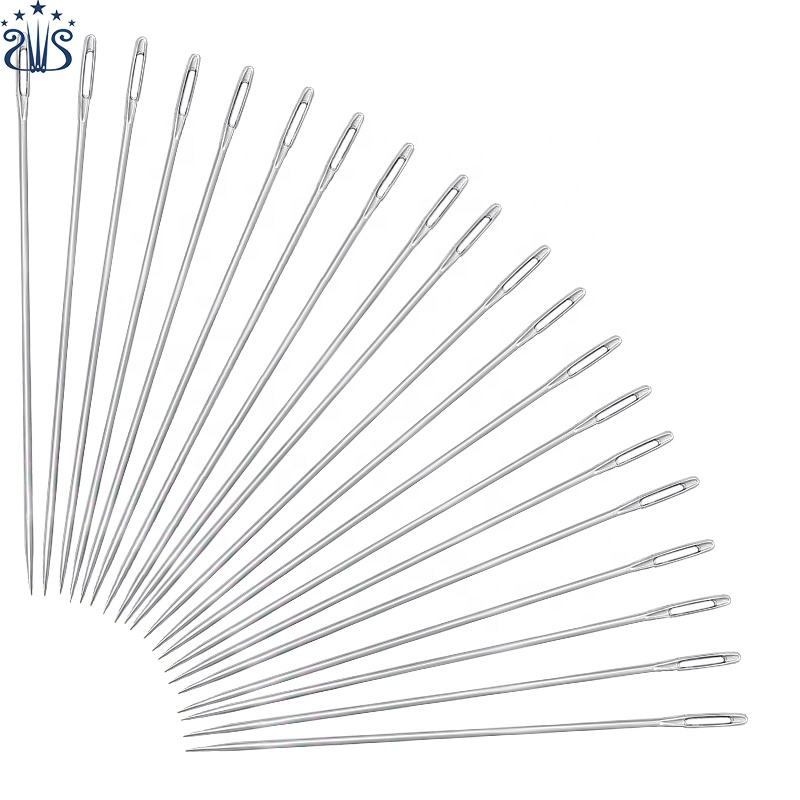 20PCS 15cm Stainless Steel Big Eye Sewing Needles Sewing Pins Set Home DIY Crafts Household Sewing Accessories
