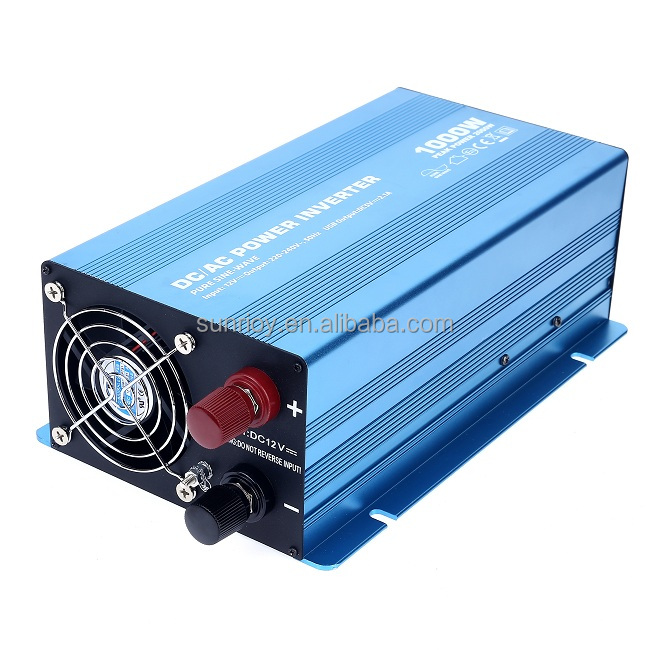 12V to 220V DC TO AC Pure Sine Wave Inverter 1000Watts Solar Power Products with CE RoHS Certificates
