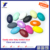 Colorful wholesale round oval baby teething beads BPA free silicone beads