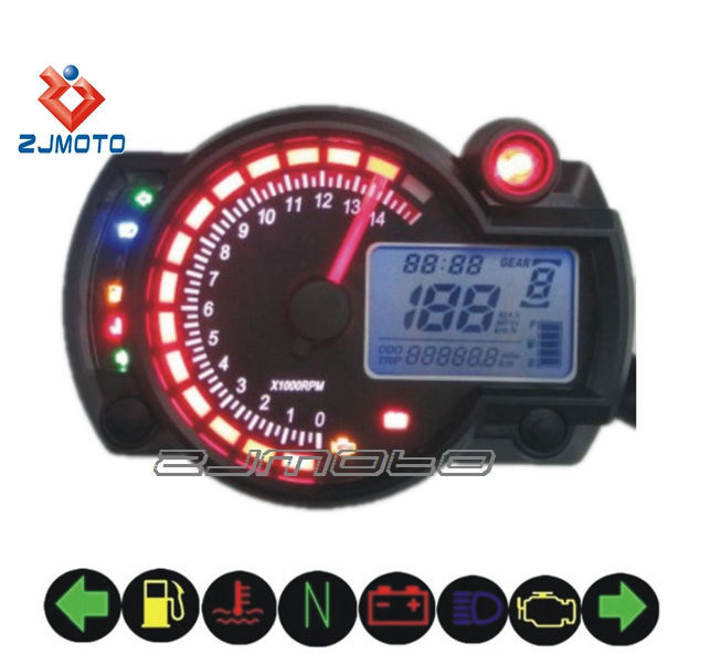 M Ss182 Universal Digital Motorcycle Speedometer