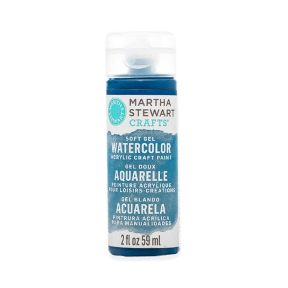Martha Stewart Crafts Soft Gel Watercolor Acrylic Paint in Assorted Colors (2 Ounce), 33433 Navy