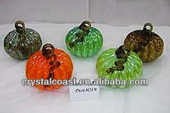 Murano Ceramic Gl Pumpkin Lantern For Decoration Outdoor Led Garden