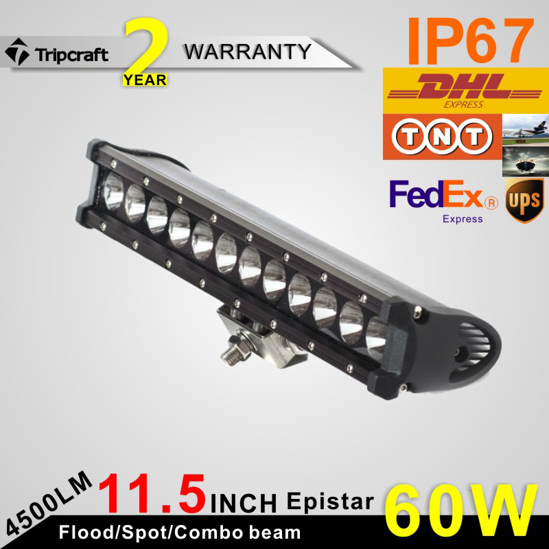 CAR CANE Latest Thin Single Row Offroad 4x4 accessories Truck UTV ATV SUV 60w Led Light Bar