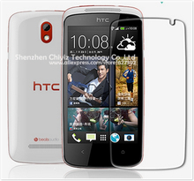 2 x High Quality Clear Glossy Screen Protector Film Guard Cover For HTC Desire 500 506e 560 5088 509d