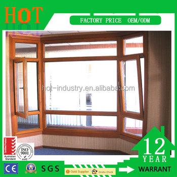 Wood Windows German Hardware Door & Window Frames Type And Plastic ...