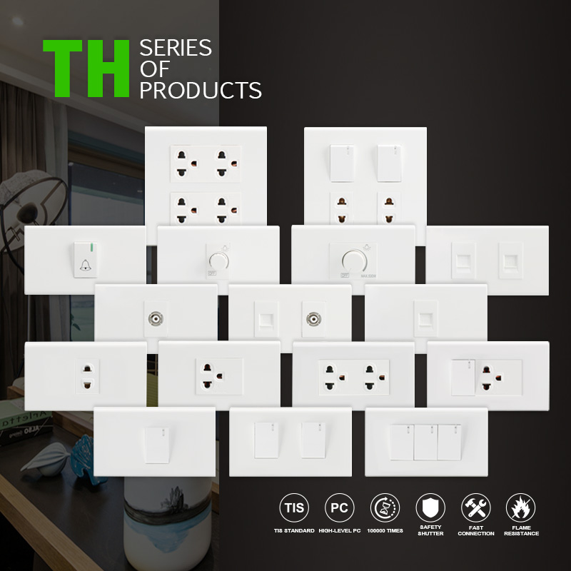 Thailand Popular 1 Tv Wall Socket With 2 Pin Socket And Switch - Buy Tv  Wall Socket,Thailand Tv Wall Socket,Popular Tv Wall Socket Product on