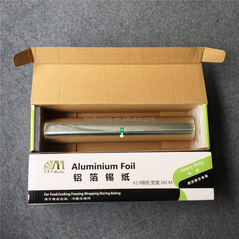 50m length 38cm big box packing width food grade heavy duty catering roll type aluminium foil food wrapping paper