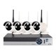 IP Camera Cctv System Wifi Wireless Security Camera H.264 4ch Nvr Dvr Kit