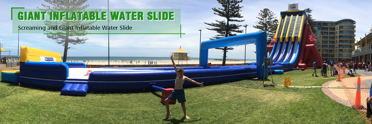 hot sale customized large inflatable water slide for sale