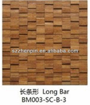 Bambù Mosaico Irregolare Interno/mosaico In Legno Pannello/materiale ...