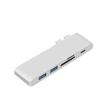 multi function colorful Aluminum Design hub with Type c fast Charging 5Gbps Port 2 USB 3.0 Ports hub