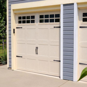 New Technology Modern Style Barn Grooved Panel Garage Door with glass window