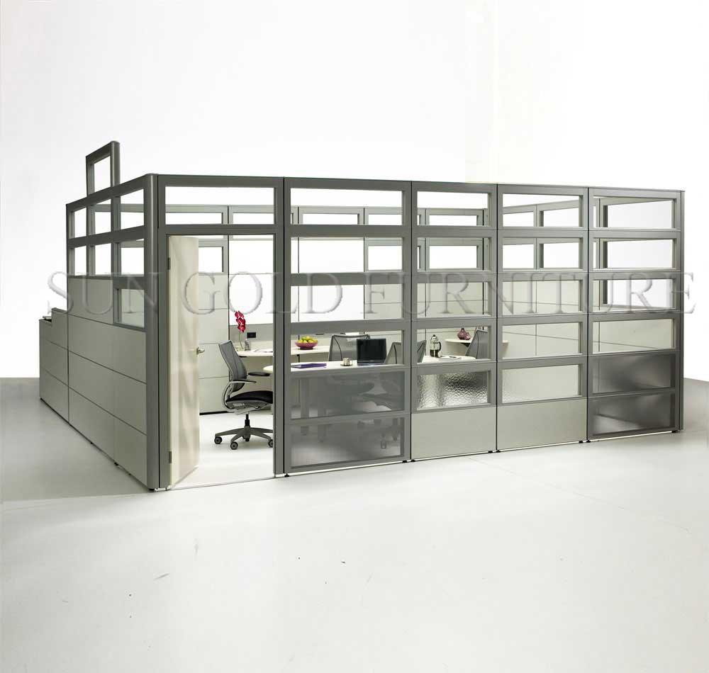 현대적인 디자인 유리 나무 벽 패널( SZ- ws186)-사무실 파티션 ...