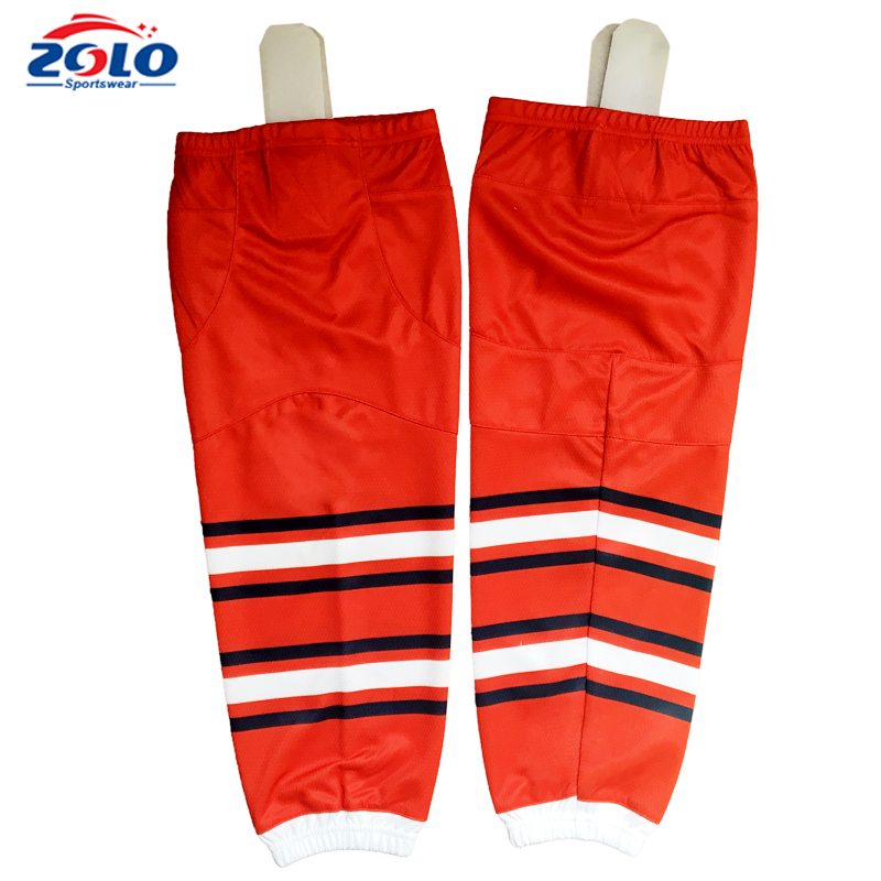 China supplier 100 polyester sublimation cheap team hockey socks