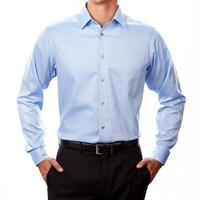 High Quality Formal Elegant Business Cotton Long Mens Casual Slim Fit Dress Shirts