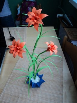 Origami Lily From Paper