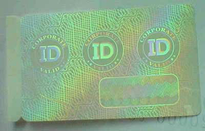 customized hologram overlay printer id card,Security hot stamped hologram overlay for PVC cards