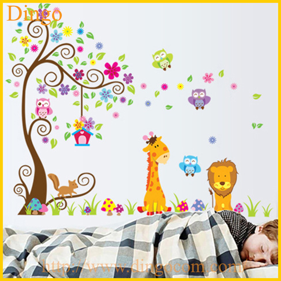 branche d 39 arbre stickers muraux murales b b fille nursery enfants chambre sticker home decor. Black Bedroom Furniture Sets. Home Design Ideas