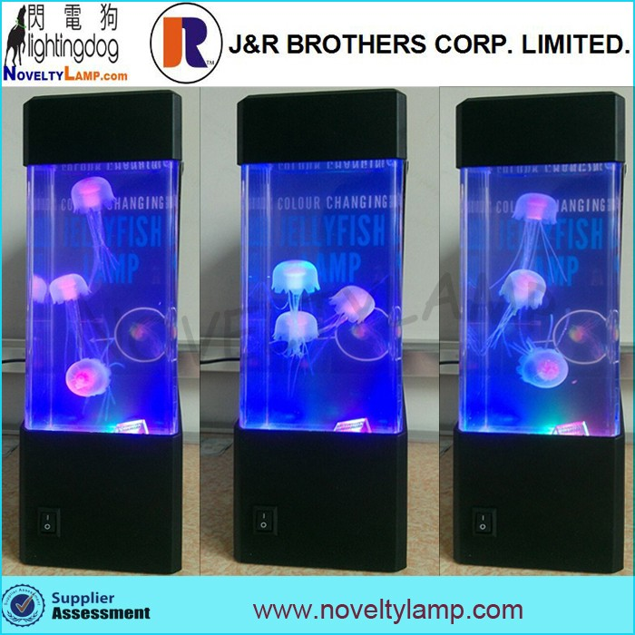 Christmas Gift Mini Rgb Color Changing Aquarium Jellyfish Light ...