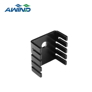 wholesale extrusion AL 6063 heatsink with black anodizing finish for hair dryer