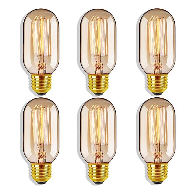 HOT SELL Edison   e27 incandescent bulb 220v 25w 40w 60W filament lamp