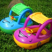 PVC Car Sunshade Inflatable Baby Swim Float Seat Boat For Kids