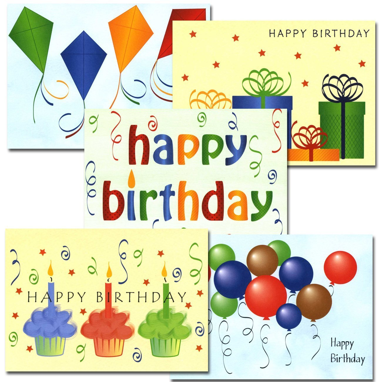 Happy Birthday Cards Assortment