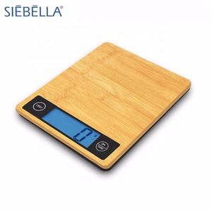 Factory price most accurate bamboo platform with tare function 5KG electronic kitchen scale