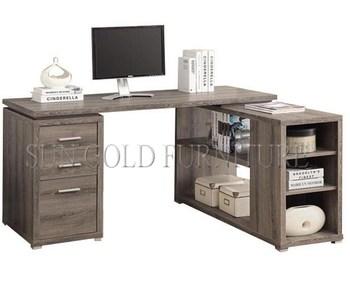 Moderne en forme de l meubles en bois ordinateur de bureau bureau